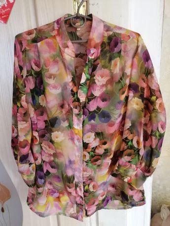 Блузка // женская рубашка (цветочный принт)
