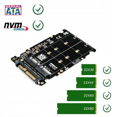 Adapter Konwerter SSD M2 NVME na U2