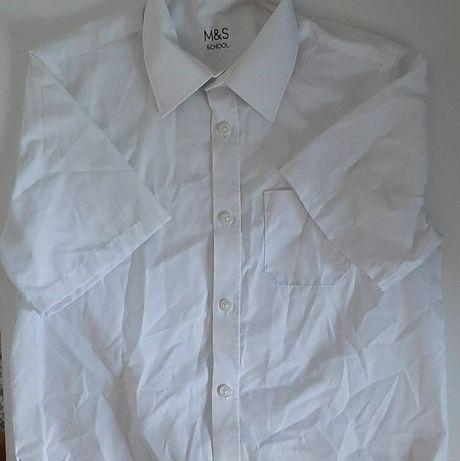 Сорочка, рубашка, шкільна форма, футболка на мальчика, белая футболка