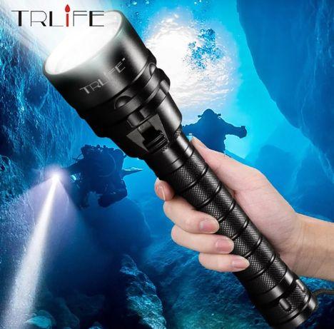 Lanterna Mergulho 5xLeds Luz Branca 7000 lúmens 200m profundidade Novo