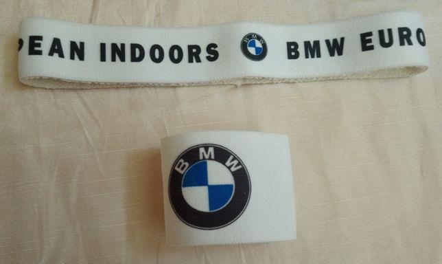 Напульсник и повязка для головы для игры в большой теннис. Набор BMW