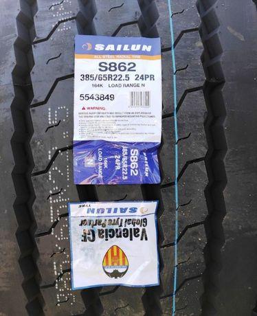 Грузові вантажні шини 385/65R22.5 164K 24PR S862 резина Прицеп