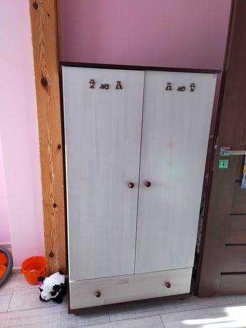 Szafa i komoda Drewex Mocca- zestaw mebli drewnianych