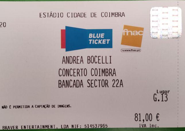 Bilhete concerto Andrea Bocelli - 26 de junho