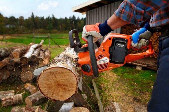 Спил деревьев, распил на дрова