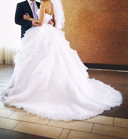 Шикарное свадебное платье Justin Alexander