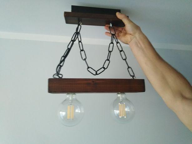 Żyrandol Lampa handmade drewno