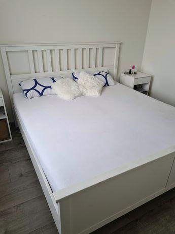 Łóżko sypialniane Ikea Hemnes 180×200 + stelaż + materace
