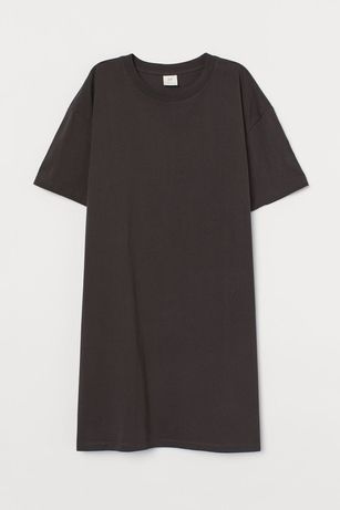 Платье футболка прямого кроя графит новинка 2020 новая коллекция h&m