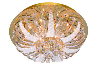 Żyrandol lampa sufitowa złota SYLLA kryształ Leuchten Direkt 50382-1
