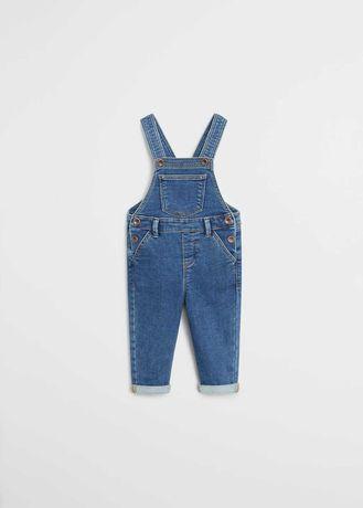 Джинси MANGO комбінезон джинсовий 67084402