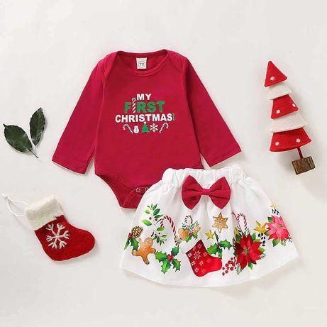 Комплект костюм набор мой первый новый год my first Christmas
