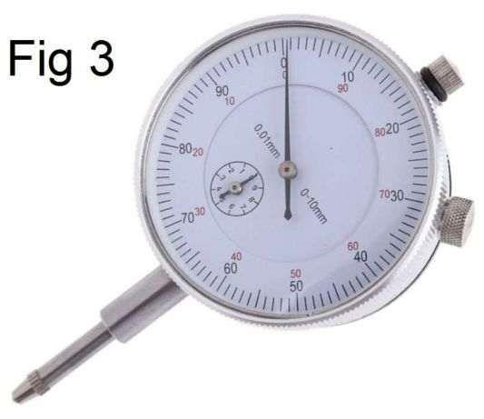 Régua e Esquadro de fio, manómetros e comparador entre outros.