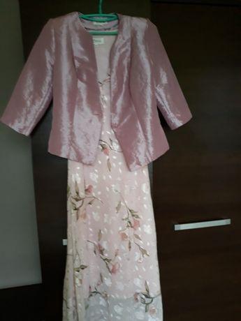 Śliczny komplet sukienka i żakiet XL+torebka gratis
