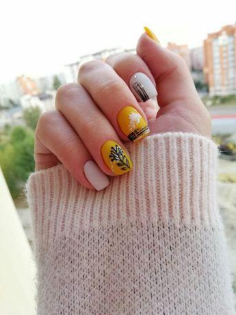 Наращивание - покрытие ногтей гель лаком на дому!