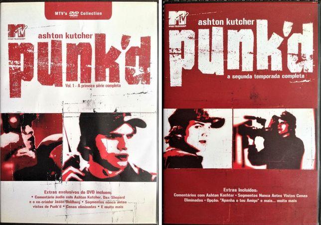 DVDs - MTV Punk'd - Ashton Kutcher - Temporadas 1 e 2 - BOM ESTADO