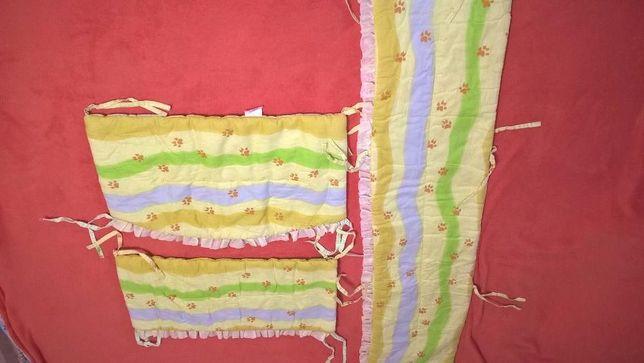 Защита для детской кроватки Сафари + карман