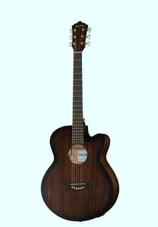 Guitarra folk cordas de aço amplificada MAHOGANY