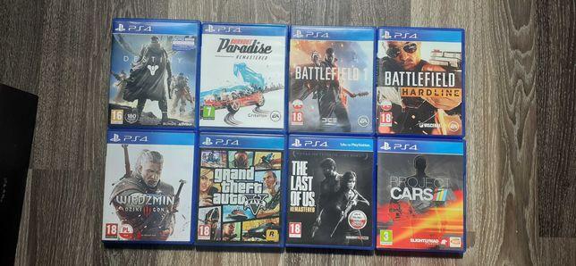 Zestaw 8 gier PlayStation 4 Ps4 GTA5 Wiedźmin