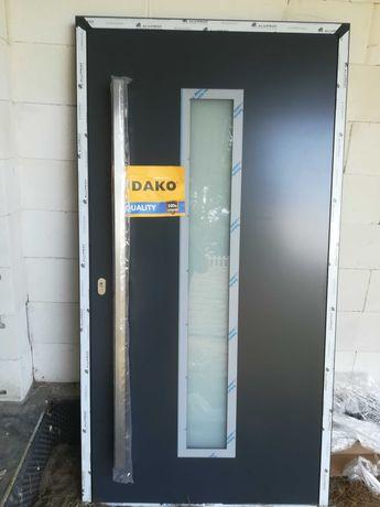 Drzwi zewnętrzne ciepłe aluminiowe Dako TAIDA 1120X2100