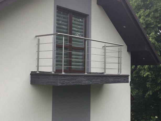 Balustrada Balkonowa Tarasowa Ze Stali Nierdzewnejp