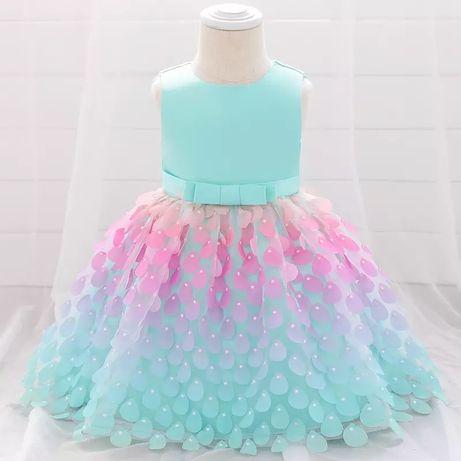 Платье на 1 годик 2 года нарядное детское дитяче плаття сукня 74 80 86