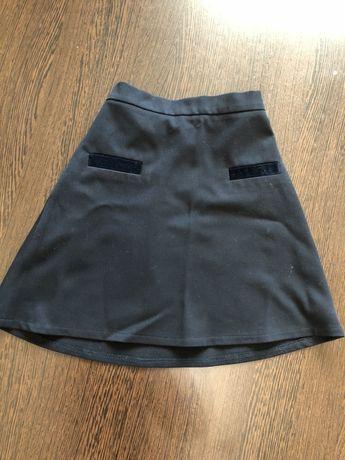 Школа юбка и футболка 146 -150 см, талия ребгулируется,э