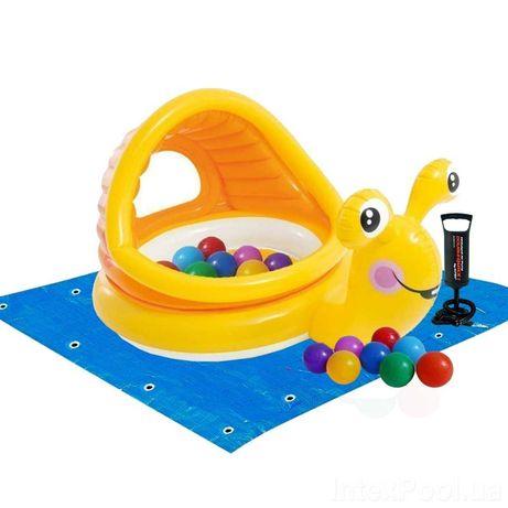 ХИТ ЛЕТА!Детский надувной бассейн+шарики+подстилка,НАСОС В ПОДАРОК!