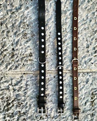 Coleiras e trelas artesanais em couro