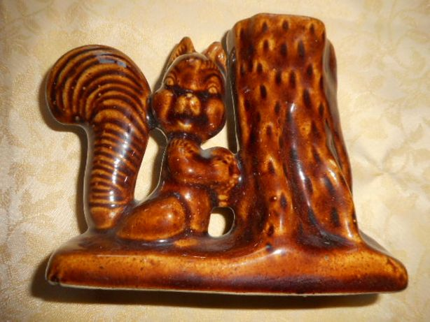 Zając wiewiórka ozdoby ceramiczne