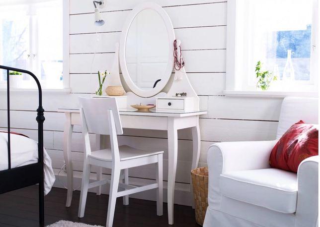 Toaletka Hemnes biała 100 x 50 z taboretem IKEA