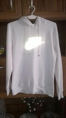 damska bluza z kapturem bluzka bluzeczka nike biała kaptur rozmiar L