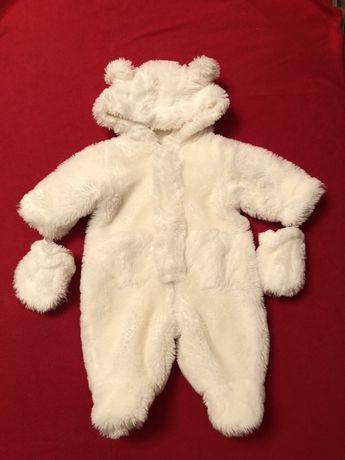 Меховой комбинезон для новорождённого