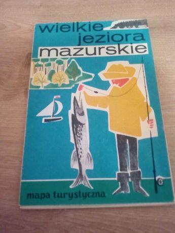Mapa turystyczna Wielkie jeziora mazurskie 1966