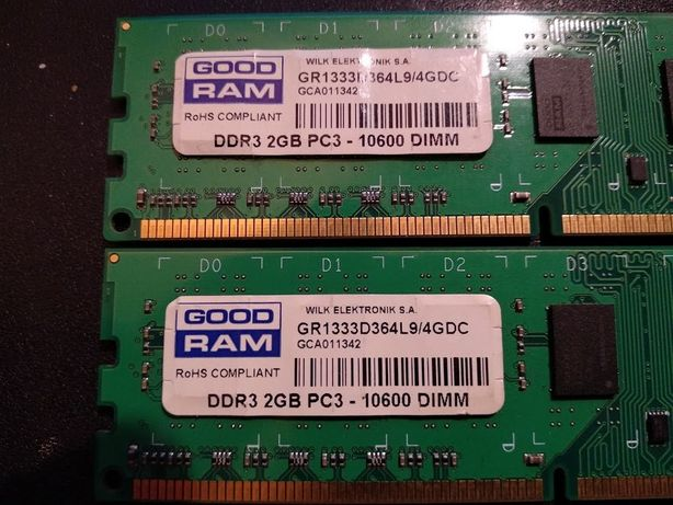 DDR3 Good Ram 4GB - 2x2gb, 1333, 10600