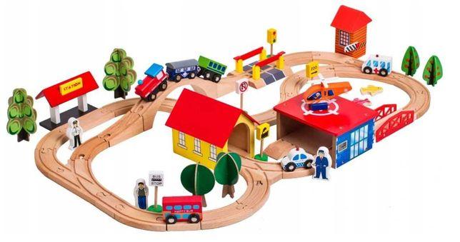 Детская деревянная дорога, железная дорога