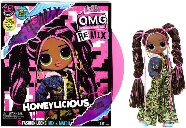 L.O.L. Surprise O.M.G. Remix Honeylicious Doll ЛОЛ с музыкой Милашка