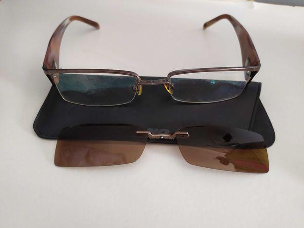 Solano męskie oprawki okulary z nakładkami