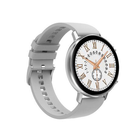 Smartwatch damski TKY-FT06 pasek silikon + metalowy srebrny NOWY