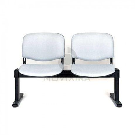Cadeira estofada em viga de 2 lugares com 1100L