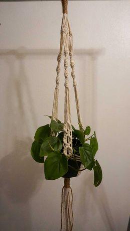 Suporte para vasos/plantas em macrame