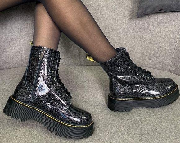 КОЖА Женские ботинки зимние Dr Martens Galaxy жіночі Др Мартинс зимові