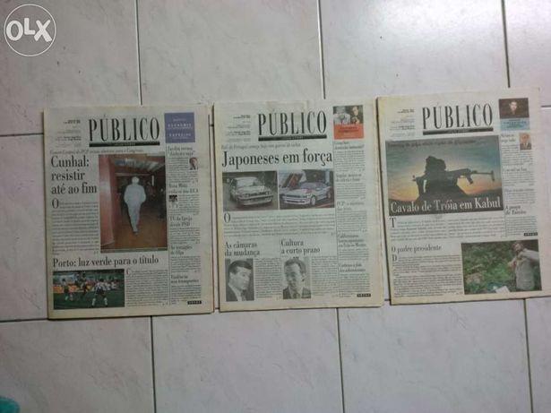 """Edição Jornal """"O Público"""" ( Nº 1, 2 e 3)"""
