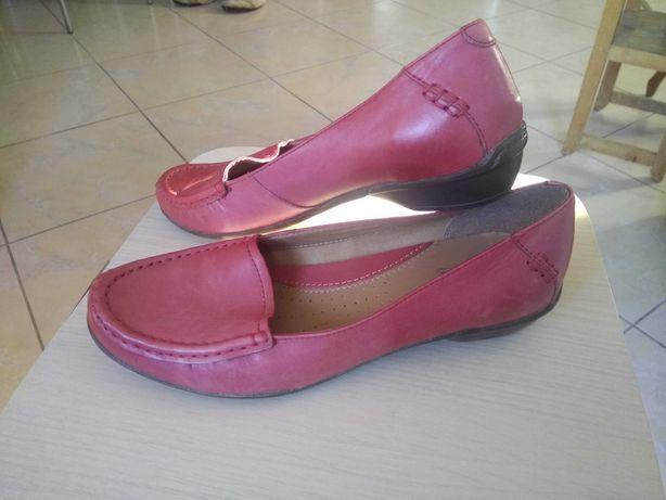 Туфли мокасины Clarks кожа стелька 25 см