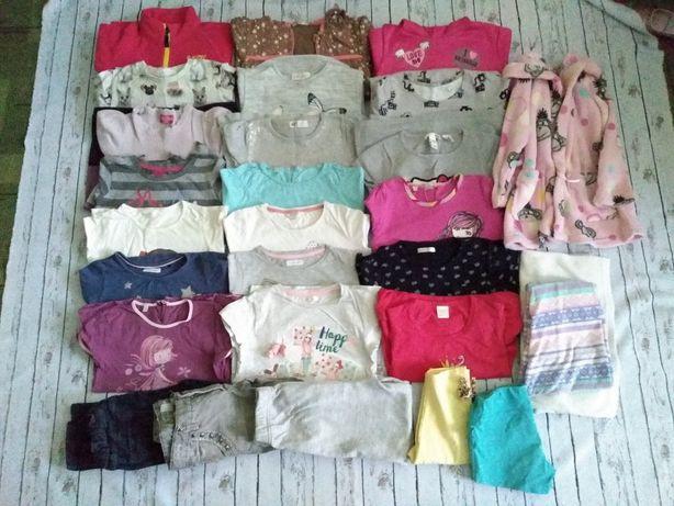 Zestaw ubrań dla dziewczynki roz. 110/116 i 116