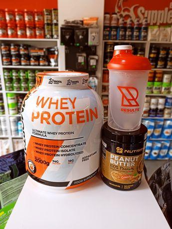 Immortal Whey Protein 2kg białko WPC WPI Gratis masło orzechowe Shaker