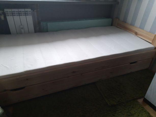 Łóżko drewniane sosnowe 90x200