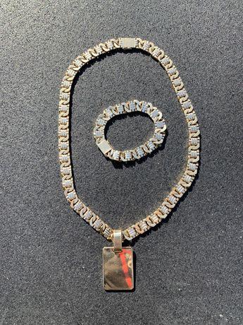 Zloty lancuch przywieszka bransoletka