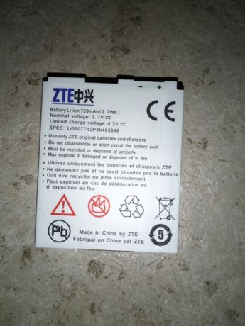 Bateria ZTE Li 720 mAh (2. 7Wh)
