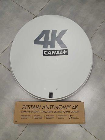 Antena satelitarna 80cm, konwerter Twin, Canal+ 4k